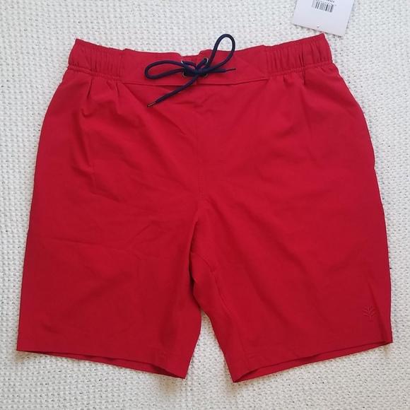 9ddea9ec813 Coolibar Red Island Swim Trunks UPF 50+ NWT